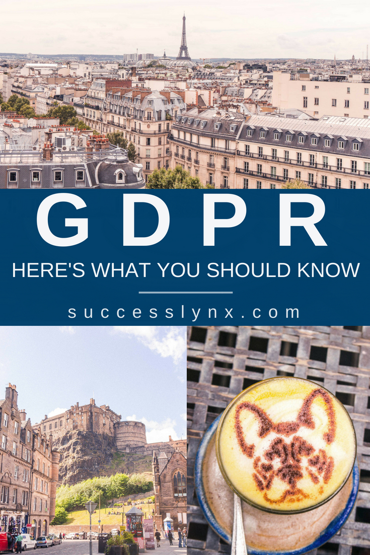 You might be panicking about GDPR regulations and what to do with your website about GDPR. However, what does GDPR (General Data Protection Regulation) mean for your business? Your free GDPR checklist on how to make your blog or small business GDPR compliant and what you need to know about GDPR from two data geeks. #GDPR #smallbusiness #bloggingtips