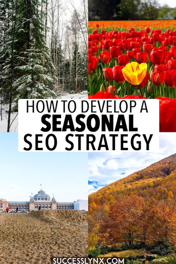 Planning your content calendar and trying to decide which blog content to publish first? Essential SEO tips based on data for optimizing your content calendar for seasonality with SEO searches. #seo #seotips #searchengineoptimization #contentcalendar