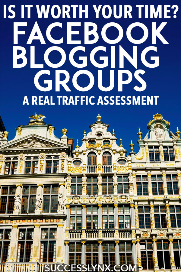 Are Facebook blogging groups worth your time? A real traffic assessment of the impact of blogging groups on website traffic and whether you should spend time in Facebook groups to grow your website traffic. #blogging #blogger #seo