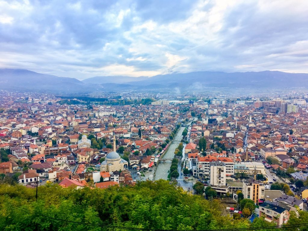 Beautiful view of prizren from Kalaja Fortress in Prizren, Kosovo. The Kalaja Fortress has one of the best viewpoints in Prizren.
