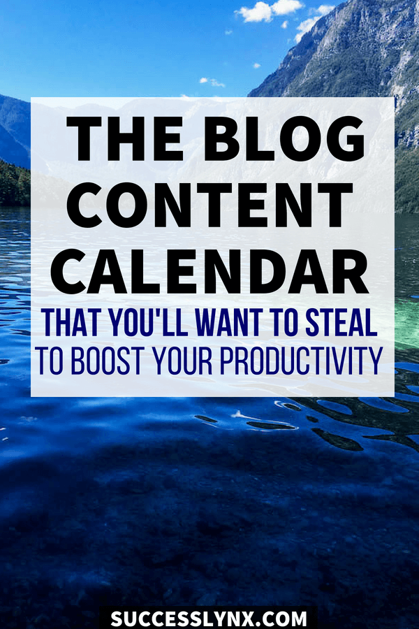 Looking to increase your website productivity? Download the free content calendar that you'll want to steal to boost your productivity and get more traffic! #blogging