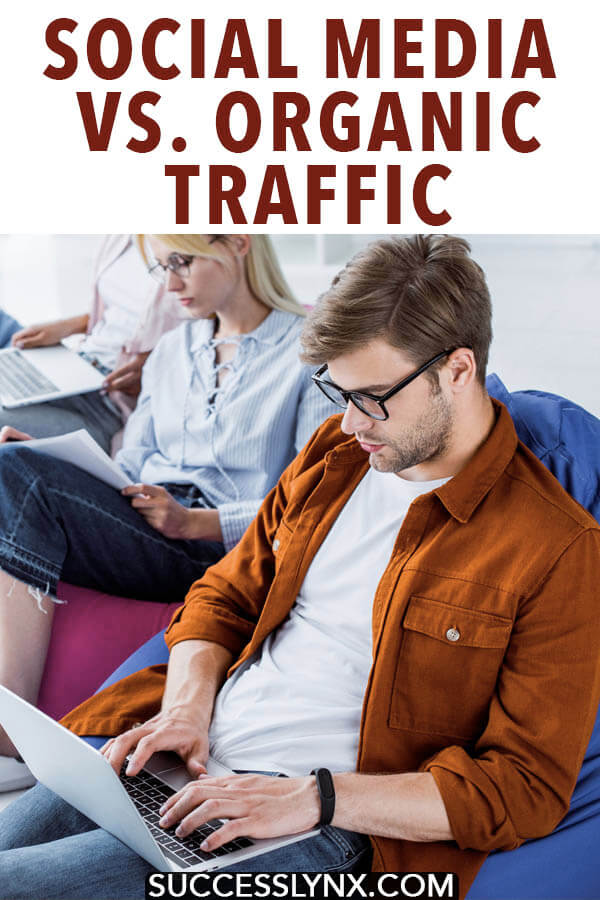 Trying to get more traffic to your website? Read on whether you should focus on social media or organic traffic first! #SEO #socialmedia #pinterest #businessadvice #entrepreneurship